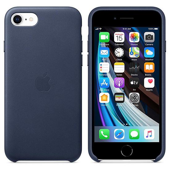 Coque et housse Apple Coque en cuir (Bleu Nuit) - iPhone SE (2020)