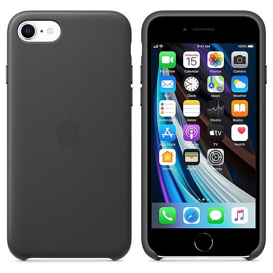 Coque et housse Apple Coque en cuir (Noir) - iPhone SE (2020)