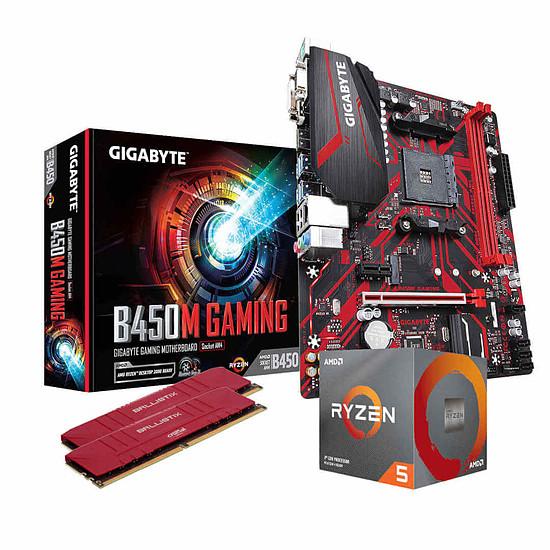 Kit upgrade PC AMD Ryzen 5 3600 - Gigabyte B450 - RAM 16Go 3600MHz