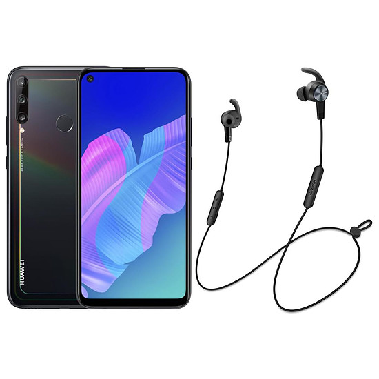 Smartphone et téléphone mobile Huawei P40 Lite E Midnight Black + Huawei AM61