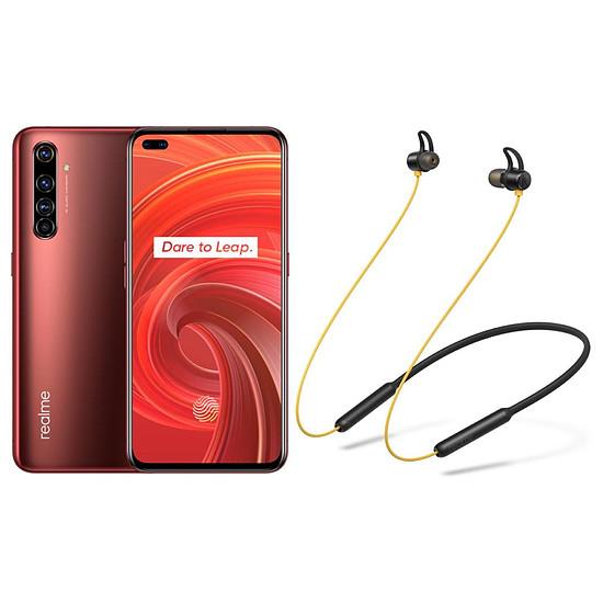 Smartphone et téléphone mobile Realme X50 Pro 5G Rouge - 256 Go - 12 Go + Realme Buds