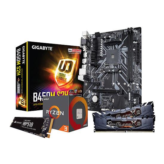 Kit upgrade PC AMD R3 1200AF - Gigabyte B450 - RAM 16Go 3200MHz - SSD 240Go