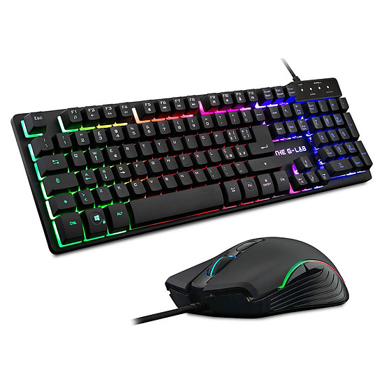 Pack clavier-souris Gaming The G-Lab Combo Krypton