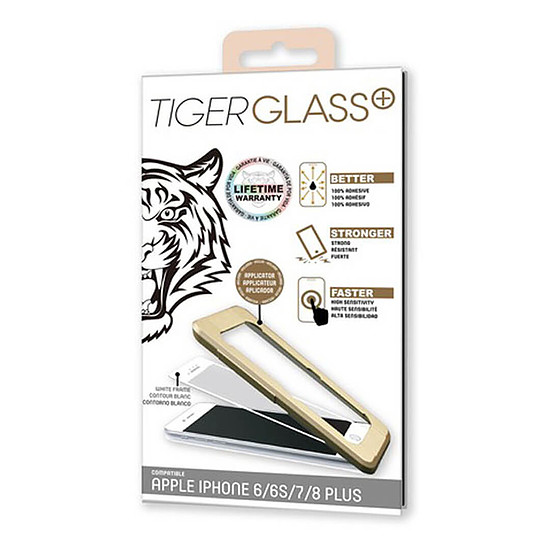 Protection d'écran Tiger Glass Plus Verre Trempé 9H+ Blanc - Apple iPhone 6/6s/7/8