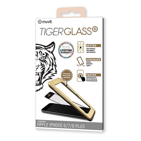 Protection d'écran Tiger Glass Plus Verre Trempé Noir -  Apple iPhone 6 Plus/6s Plus/7 Plus/8 Plus