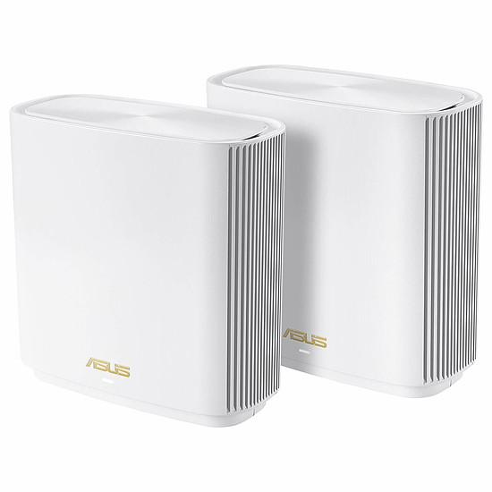 Routeur et modem Asus ZenWiFi AX (AX6600) pack de deux XT8 - blanc
