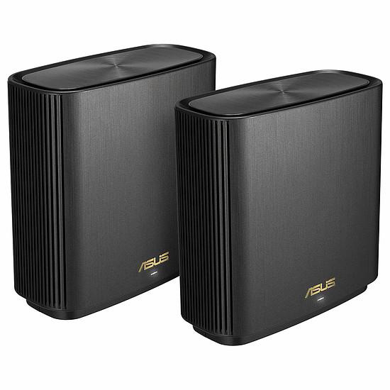 Routeur et modem Asus ZenWiFi AX (AX6600) pack de deux XT8 - noir