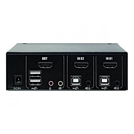 KVM KVM switch HDMI 4K / USB 2.0 - 2 ports avec câbles - Autre vue