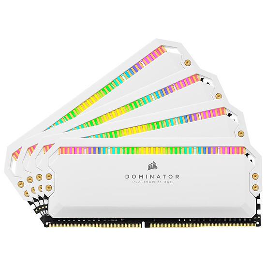 Mémoire Corsair Dominator Platinum RGB White - 4 x 16 Go (64 Go) - DDR4 3200 MHz - CL16