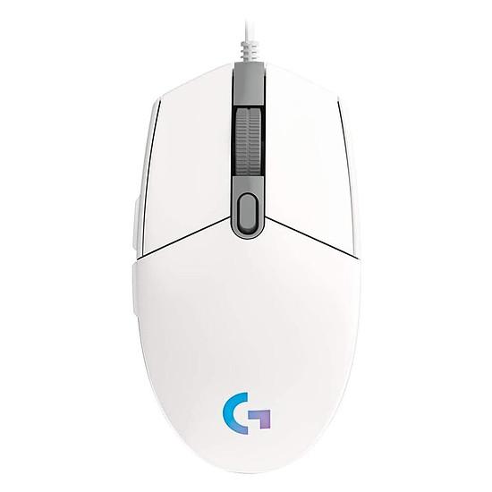 Souris PC Logitech G203 LightSync - Blanc