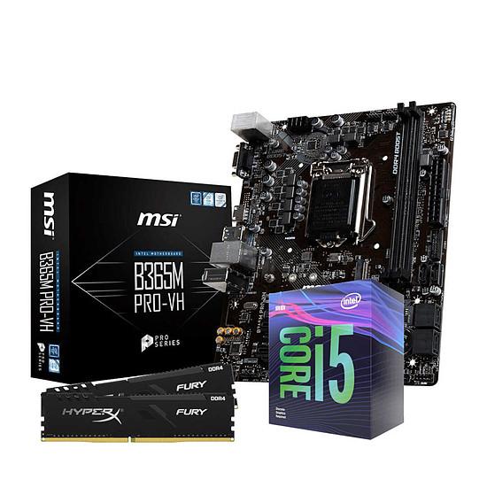 Kit upgrade PC Intel i5 9400F - MSI B365 - RAM 16Go 2666Mhz