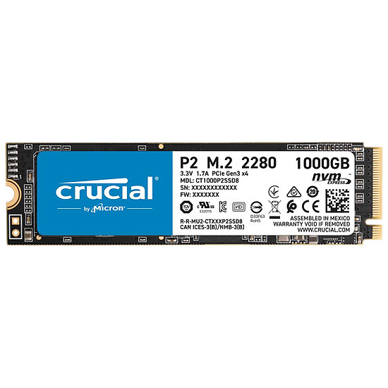 Disque SSD Crucial P2 - 1 To