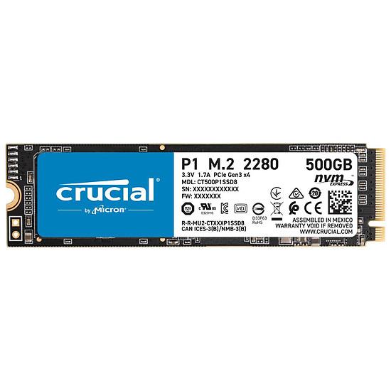 Disque SSD Crucial P1 - 500 Go