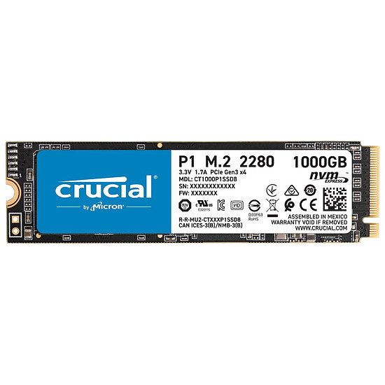 Disque SSD Crucial P1 - 1 To