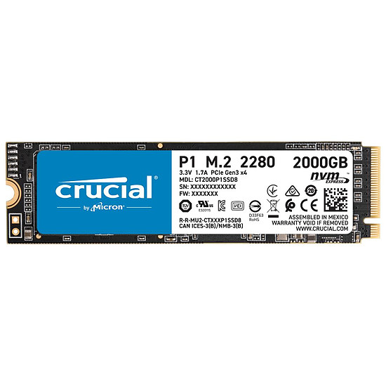 Disque SSD Crucial P1 - 2 To
