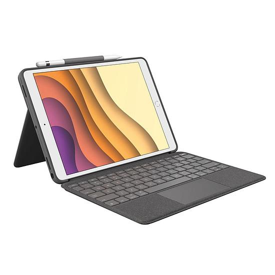 """Accessoires tablette tactile Logitech Combo Touch -  iPad (7ème gen) 10.2"""""""