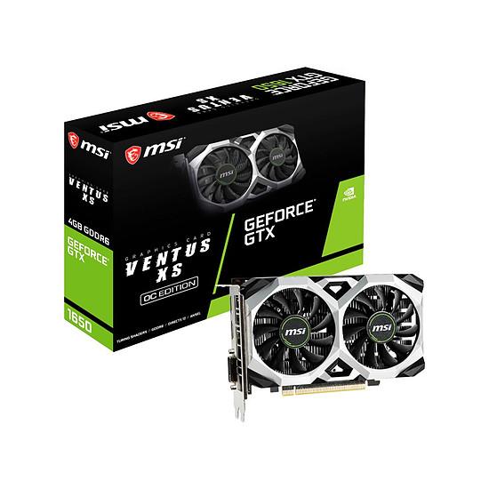 Carte graphique MSI GeForce GTX 1650 D6 VENTUS XS OC