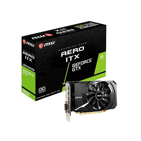 Carte graphique MSI GeForce GTX 1650 D6 AERO ITX OC