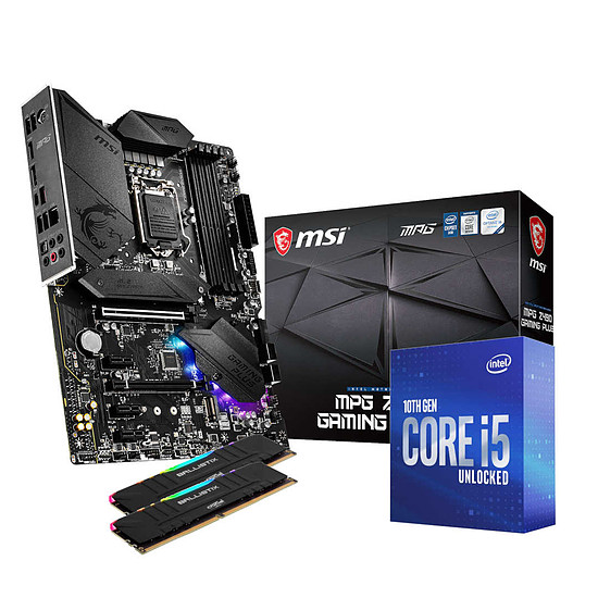 Kit upgrade PC Intel i5 10600K - MSI Z490 - RAM 16Go 3000Mhz