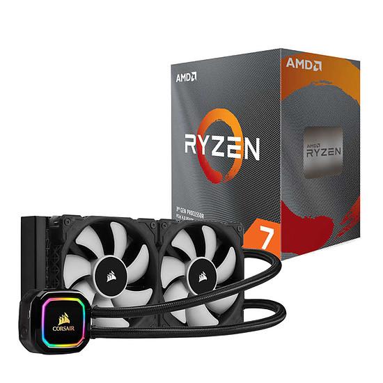 Processeur AMD Ryzen 7 3800XT + Corsair H100i RGB Pro XT