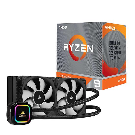 Processeur AMD Ryzen 9 3900XT + Corsair Corsair H100i RGB Pro XT