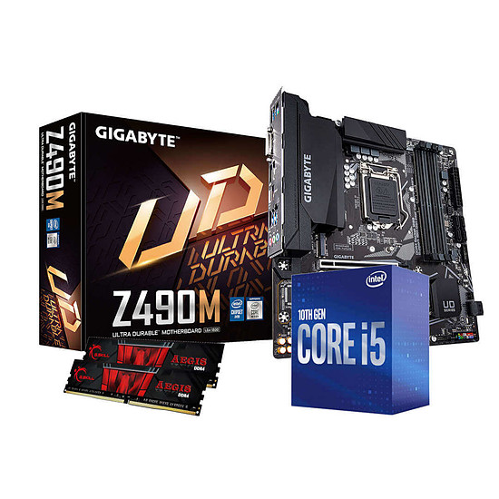 Kit upgrade PC Intel i5 10400 - Gigabyte Z490 - RAM 16Go 3000Mhz