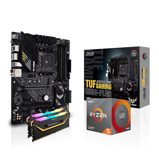 Kit upgrade PC AMD Ryzen 5 3600 - Asus B550 - RAM 16Go 3200MHz