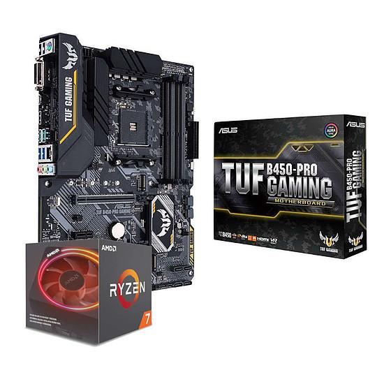 Kit upgrade PC AMD Ryzen 7 2700X + Asus TUF B450-PRO GAMING