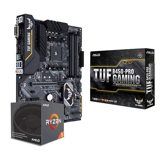Kit upgrade PC AMD Ryzen 5 2600X + Asus TUF B450-PRO GAMING