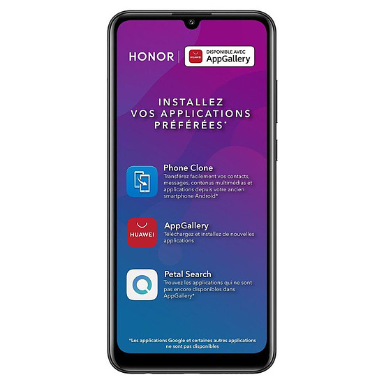 Smartphone et téléphone mobile Honor 9A (noir) - 64 Go - 3 Go
