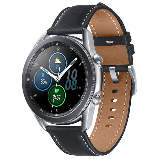 Montre connectée Samsung Galaxy Watch 3 (Mystic Silver) - GPS - 45 mm