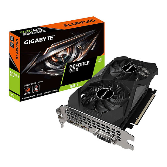 Carte graphique Gigabyte GeForce GTX 1650 D6 WINDFORCE OC