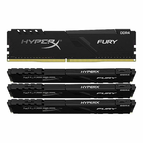 Mémoire HyperX Fury - 4 x 16 Go (64 Go) - DDR4 3600 MHz - CL18