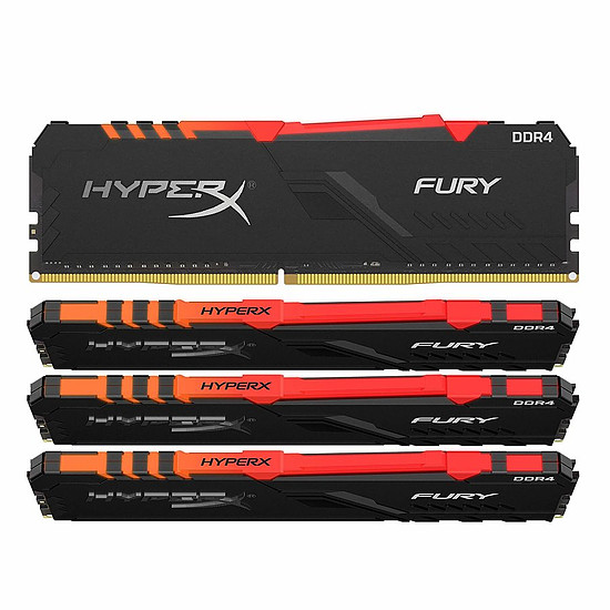Mémoire HyperX Fury RGB - 4 x 16 Go (64 Go) - DDR4 3466 MHz - CL17