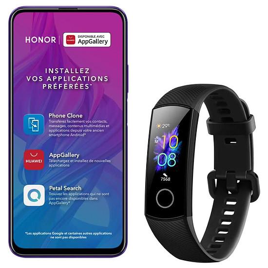 Smartphone et téléphone mobile Honor 9X Pro (violet) - 256 Go - 6 Go + Honor Band 5