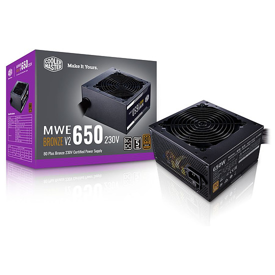 Alimentation PC Cooler Master MWE 650W V2 - Bronze