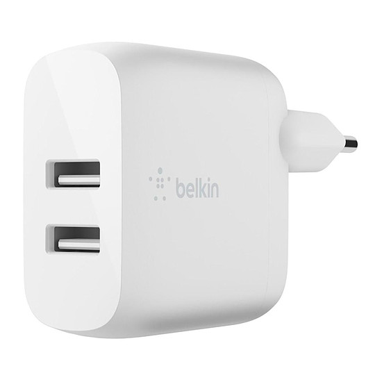 Chargeur Belkin chargeur secteur double - USB A - 24W