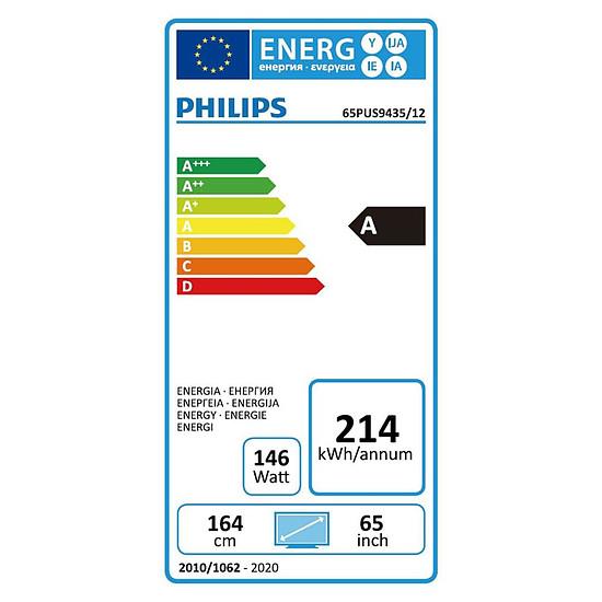 TV Philips 65PUS9435 - TV 4K UHD HDR - 164 cm - Autre vue