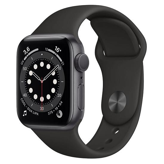Montre connectée Apple Watch Series 6 Aluminium (Gris sidéral - Bracelet Sport Noir) - GPS - 40 mm