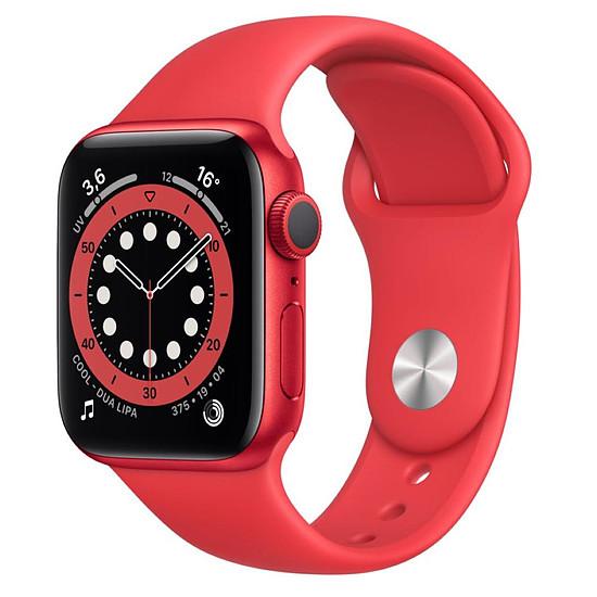 Montre connectée Apple Watch Series 6 Aluminium PRODUCT(RED) (Rouge - Bracelet Sport Rouge) - GPS - 40 mm