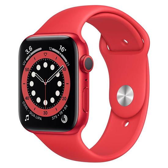 Montre connectée Apple Watch Series 6 Aluminium PRODUCT(RED) (Rouge - Bracelet Sport Rouge) - GPS - 44 mm