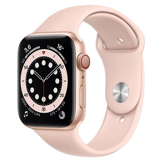 Montre connectée Apple Watch Series 6 Aluminium (Or - Bracelet Sport Rose) - Cellular - 44 mm