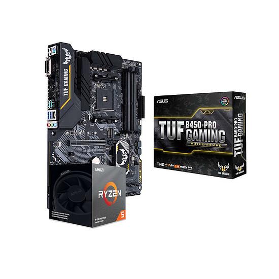 Kit upgrade PC AMD Ryzen 5 3600XT - Asus TUF B450-PRO GAMING