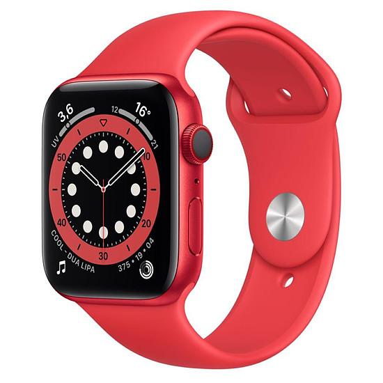 Montre connectée Apple Watch Series 6 Aluminium PRODUCT RED (Rouge - Bracelet Sport Rouge) - Cellular - 44 mm