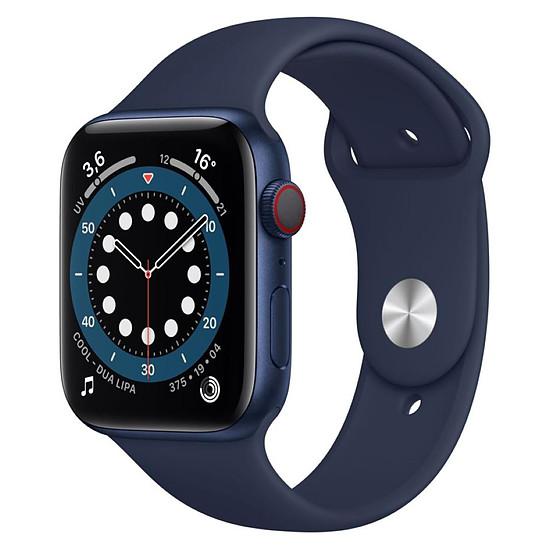 Montre connectée Apple Watch Series 6 Aluminium (Bleu - Bracelet Sport Bleu) - Cellular - 44 mm