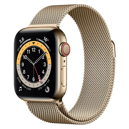 Montre connectée Apple Watch Series 6 Acier inoxydable (Or - Bracelet Milanais Or) - Cellular - 40 mm