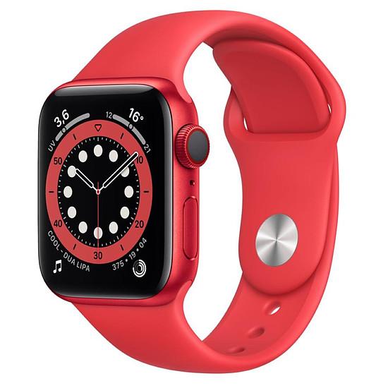 Montre connectée Apple Watch Series 6 Aluminium PRODUCT RED (Rouge - Bracelet Sport Rouge) - Cellular - 40 mm