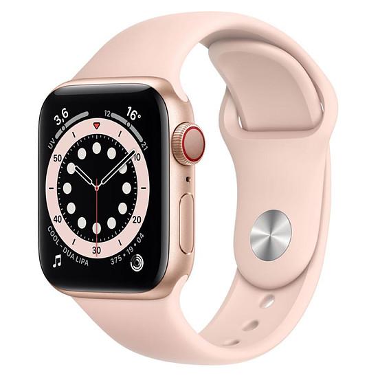 Montre connectée Apple Watch Series 6 Aluminium (Or - Bracelet Sport Rose) - Cellular - 40 mm