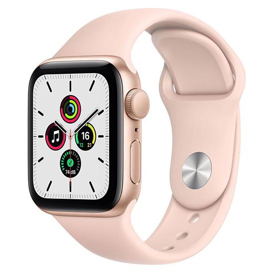 Montre connectée Apple Watch SE Aluminium (Or - Bracelet Sport Rose) - GPS - 40 mm