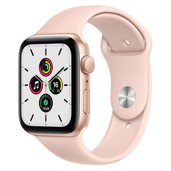 Montre connectée Apple Watch SE Aluminium (Or - Bracelet Sport Rose) - GPS - 44 mm
